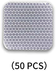 Carado 50 pegatinas reflectantes de forma cuadrada 1