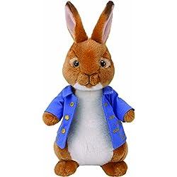 "Ty Beanie Babies Peter Rabbit Stuffed Animal, 8"""