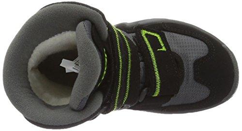 Lowa Milo - Botas de material sintético para niño Negro (Schwarz/limone_black/lime)