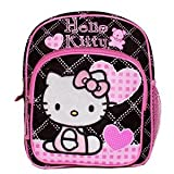 New Sanrio Hello Kitty Pink/ Black Mini Backpack with Heart School Bag (JoyAve), Bags Central