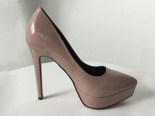 Maybest Dames Klassieke Mode Platform Puntschoen Hoge Hak Jurk Pumps Roze