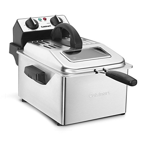 Cuisinart CDF-200 Deep Fryer, 4 quart, Stainless Steel (Cuisinart Deep Fryer Compact)