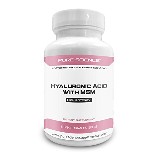 Supplements Pure Science Hyaluronic Acid & MSM 520mg Acid Jo