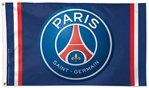 WinCraft Paris Saint-Germain Football Club Deluxe Flag, 3 x 5 foot by WinCraft