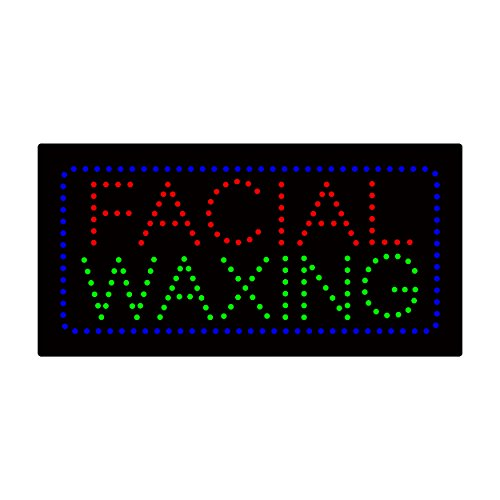 LED Facial Waxing Light Sign Super Bright Electric Advertising Display Board for Nails Spa Pedicure Message Business Shop Store Window Bedroom 24 x 12 inches by HIDLY (Image #3)