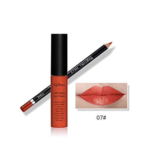 Tmalltide Waterproof Makeup Matte Liquid Lipstick Lip Gloss and Lip Liner Set (Bundle of 2 Items)- Perfect Pairings - Dollar Items Free Shipping Wholesale