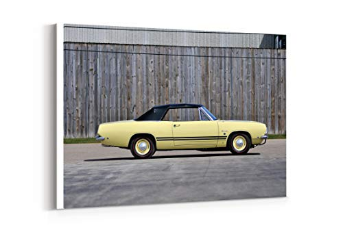 1968 Plymouth Barracuda Formula S Convertible Cars Classic - Canvas Wall Art Gallery Wrapped 18
