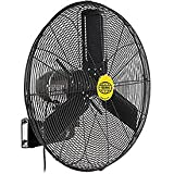 Outdoor Oscillating Wall Mounted Fan, 24' Diameter, 3/10hp, 7700cfm
