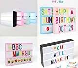 DEENZ A6 Cinematic Light Box Mini LED Light Box with 85 Letter Number and Symbol Ideal for Home Parties Gift for Your Love Ones for Children (Black)