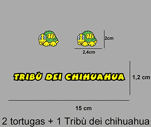 PEGATINAS-TRIBU-CHIHUAHUA-ROSSI-VR46-STICKERS-AUFKLEBER-DECALS-AUTOCOLLANTS-ADESIVI