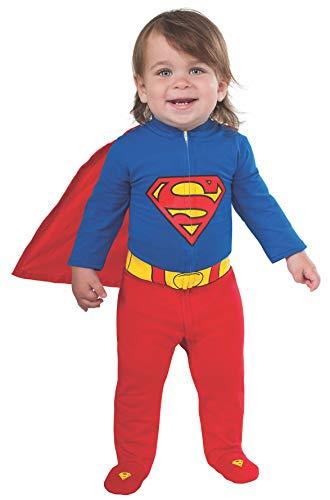 Rubie's Baby's DC Comics Superhero Style Baby Superman Costume, Multi, 0-6 Months