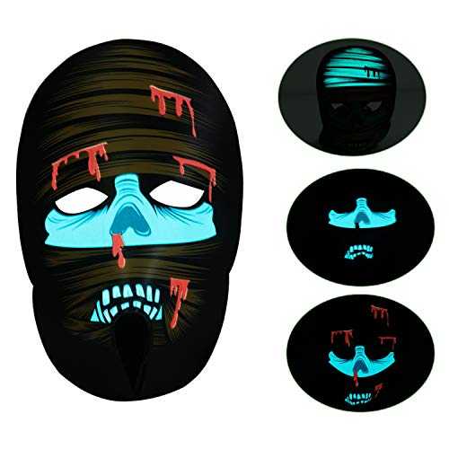 Music Sound Activated Mask, Halloween Party Light Up