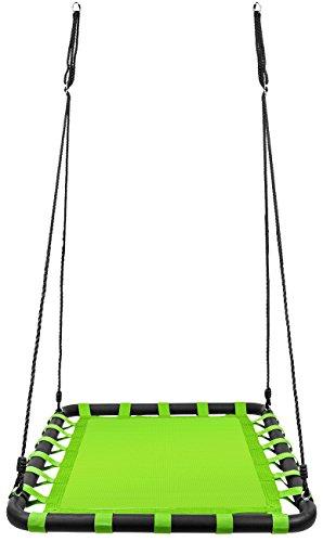 Sorbus Spinner Platform Swing – Kids Indoor/Outdoor Rectan