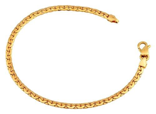 Orleo - REF5015BB : Bracelet Femme Or 18K jaune - Maille Haricot
