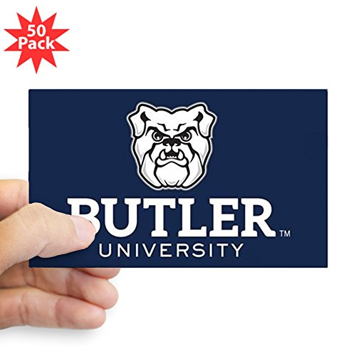 CafePress - Butler University Bulldo - Sticker (Rectangle 50 pk) by CafePress