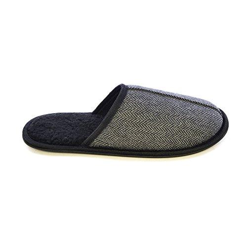brun Universal tweed pour homme à à chevrons Textiles Pantoufles en talons wSx1vCHqw