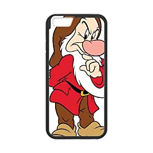 Disney Snow White and the Seven Dwarfs Character Grumpy iPhone 6 Plus 5.5 Inch Cell Phone Case Black&Phone Accessory STC_151581