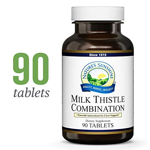 Nature's Sunshine Milk Thistle Combination, 90 Tablets   Natural Liver Support Supplement with Milk Thistle Seed, Silymarin, N-Acetyl Cysteine, and Dandelion Root Extract