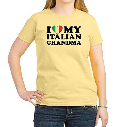 (CafePress I Love My Italian Grandma Women's Light T Shirt Womens Cotton T-Shirt, Crew Neck, Comfortable & Soft Classic Tee)