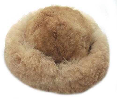 Fur Satin Hat (Alpakaandmore Womens Brown Baby Alpaca Fur Mongolian Hat Satin Lined Russian Hat (X-Large ( 23 1/2 - 23 7/8 )))
