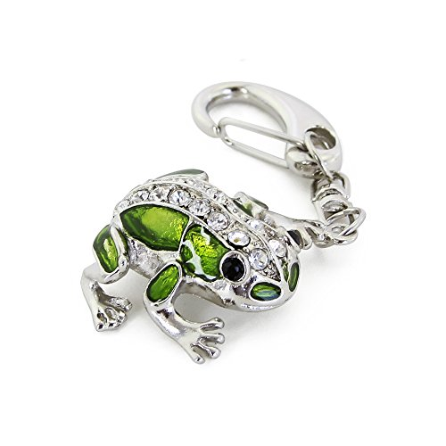 CHUYI Crystal Cute and Novelty Frog Shape Animal Pen Drive 32GB USB 2.0 Flash Drive U Disk Thumb Drive Memory Stick Data Storage Jump Drive with Key Chain