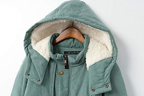 Capuche Laine Chaud Et À Coupe Manteau Avec Polaire D'hiver vent En Vert2 Pour Veste Ski Parka Femme Sodhue L'intérieur Épaissie Long De qYtXZ