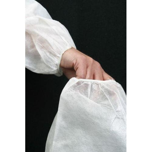 Safety Zone DSWH-18-BB Breathable Microporous Sleeve, 18'' Size, White (Pack of 200) by The Safety Zone