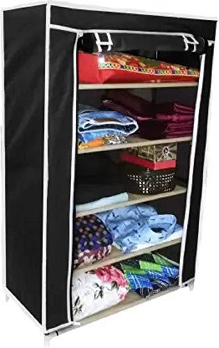 CMerchants PP  Polypropylene  Collapsible Wardrobe  Finish Color   Black