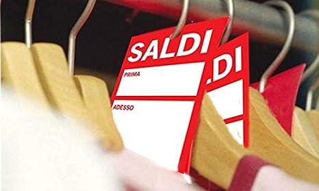 SALDI 6x9cm Fino a 100 targhette segna prezzo Offerta speciale o Saldi 100 Cartellini segnaprezzi sconti mod