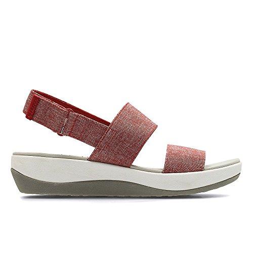 Clarks  Arla Jacory, Chaussures de ville à lacets pour femme rouge Red