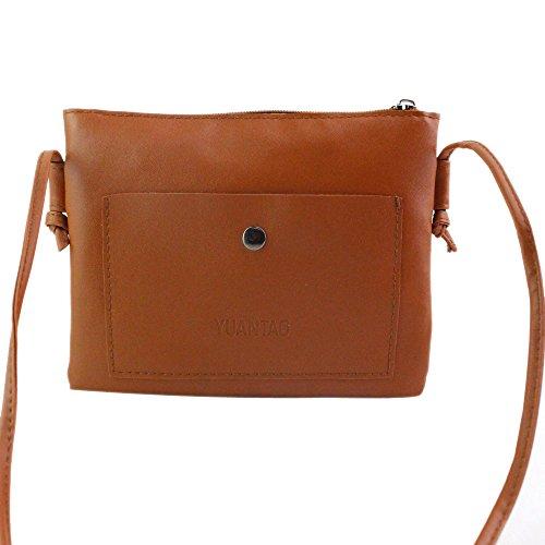 Fulltime (TM)–Gafas de sol para mujer bolso bandolera (tamaño grande), diseño de bolso, Monedero, Infantil mujer, marrón, 21cm*2cm*16cm marrón