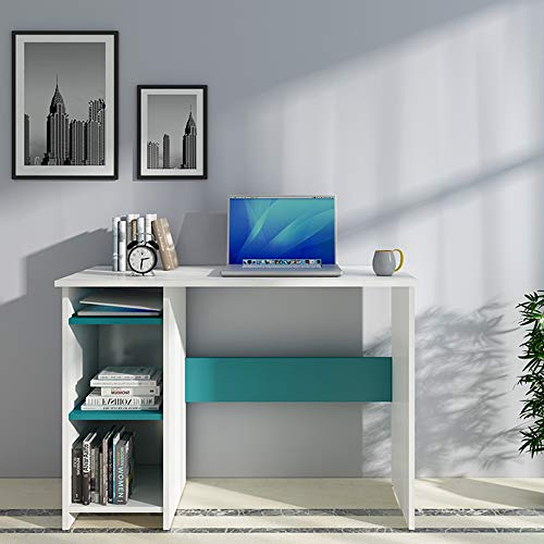 Woodbuzz Laminated-Matt Engineered Board Duke Laptop, Computer/Study Semi Open Bookcase Table Desk for Home & Office…