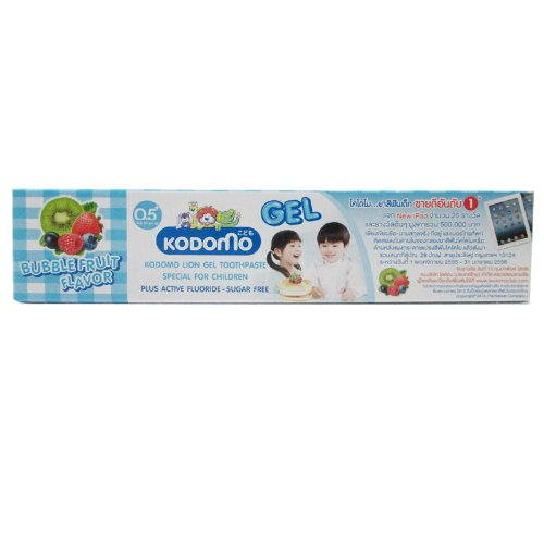 Kodomo Baby Gel Toothpaste Bubble Fruit Flavor Sugar Free for 6 months up