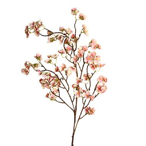 AutumnFall Artificial Cherry Peach Blossom Fake Silk Flower Home Wedding Party Floral Decor DIY Graduation Bouquet (D) -