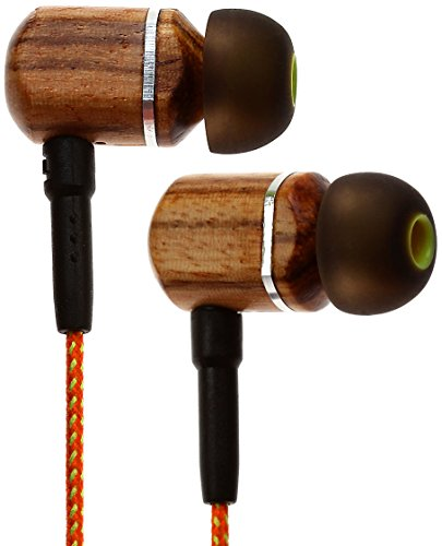 Symphonized MTRX Premium Genuine Wood In-ear Noise-isolating Headphones with Mic and Nylon Cable, Orange Stripe Review
