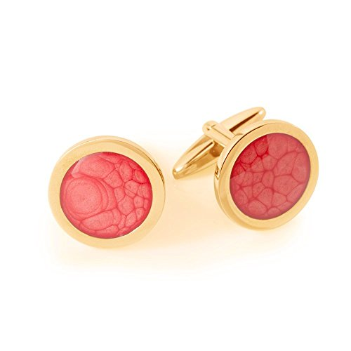 Coral Red Bar Cufflinks Man's Style Gift for Father's Day By Dragon Porter