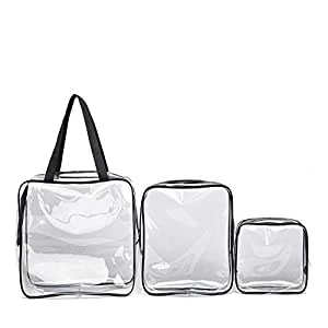 Mayshow Toiletry Bag Clear Transparent Waterproof Makeup Bag Waterproof Shower Wash Bags Organiser Travel Storage Bag Pouch,PVC,Single Large