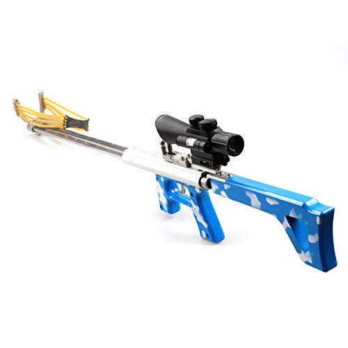 Leopard Smoothbore Mechanical Bow Slingshot Target Shooting Hunting Fising Tools Long-Range Strike Catapult Sling Shot Kits