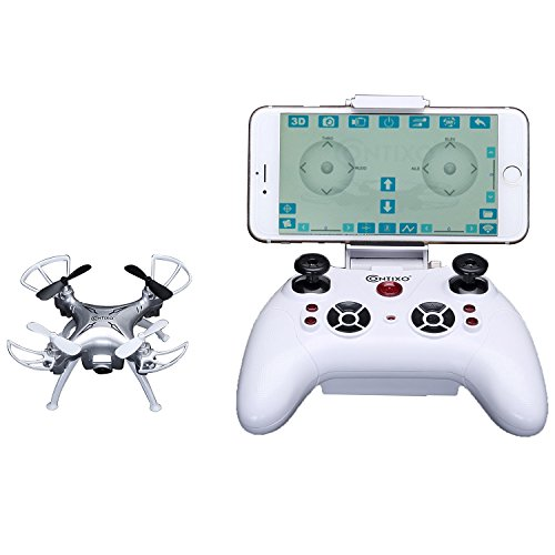 Contixo F3 App Track-Controlled Mini Drone 720P HD WiFi Camera, 2.4GHz 4CH 6-Axis Gyro RC Quadcopter, Gravity Sensor, One-Key Return, Headless Mode, 3D Flips, Bonus Batteries