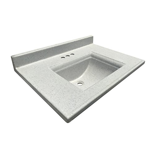 ARSTAR Vanity Top Camila 22x31 inches, Color Frost Gloss