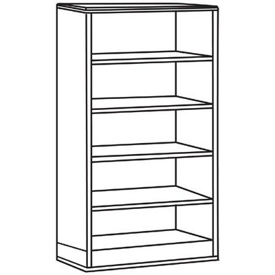 Lorell Bookcase, 33 by 16 by 72-Inch, Mahogany