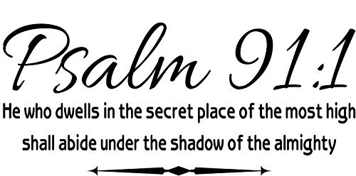 Empresal Wall Decal Psalm 91:1 He Who Dwells in The Secret Place Scripture Wall Arts Quote
