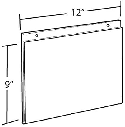 Azar 162724 3.5-Inch W by 5-Inch H Wall U-Frame 10 Count