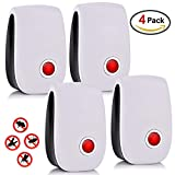 AUSHEN Ultrasonic Pest Repeller, Pest Reject Mice Control Pest Control Anti Mosquito Insect Repeller Mouse Cockroach 4 Pack - No Traps Poison & Sprayers
