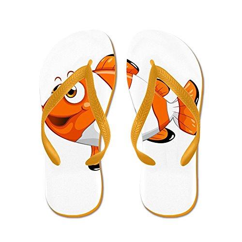 Truly Teague Mens Happy Clown Fish Rubber Flip Flops Sandals Orange UA6Ayf3izC