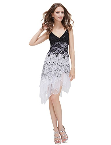 Ever Pretty Cheap Summer Dress Teens 00045, HE00045WH14, Multiple(white), 12US (White Dress For Teenager)