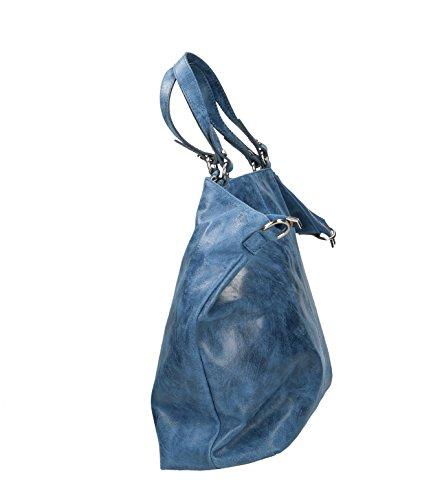 Ju&Zo, Borsa a spalla donna blu blu Taille Unique