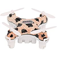 Dwi Dowellin Mini Drone RC Quadcopter Pocket Hand Blade Nano Helicopters Outdoor Toy CX-10D/Leopard-print