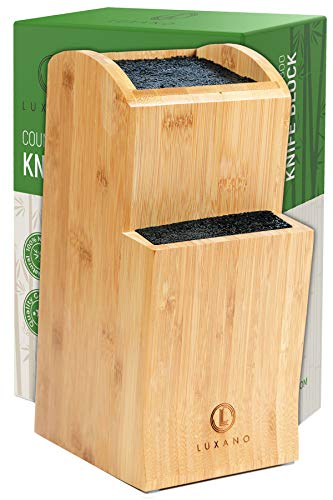 Universal Knife Block Without Knives: Kitchen Knife Holder and Knife Rack: Extra Large Knife Organizer and Knife Stand