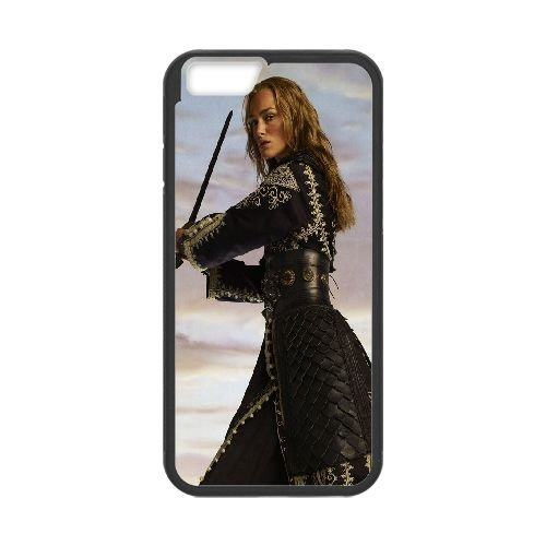 Elizabeth Swann Pirates Of The Caribbean coque iPhone 6 4.7 Inch Housse téléphone Noir de couverture de cas coque EOKXLLNCD16992